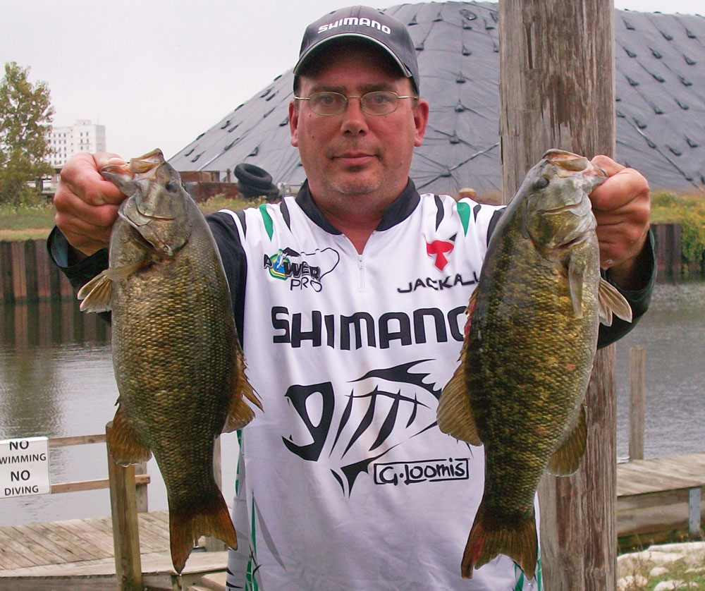 co-angler tips with catch from Fabiszak