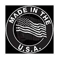 black made in usa logo